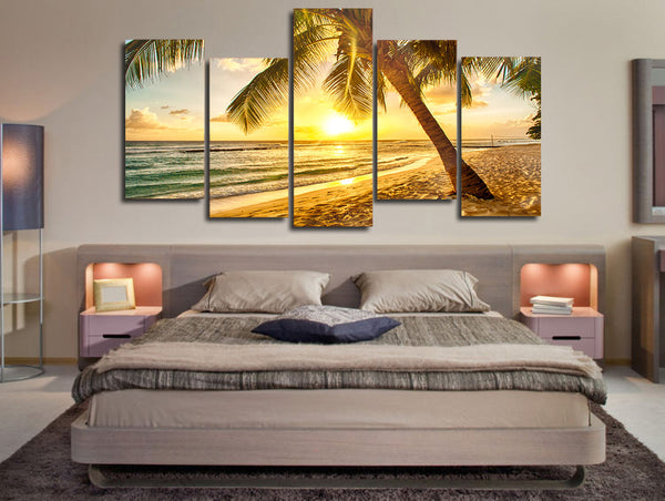 HD Printed palm tree beach picture Painting wall art room decor print poster picture canvas Free shipping/ny-690