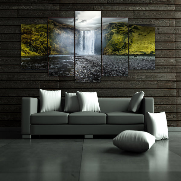 HD Printed Natural waterfall landscape Painting Canvas Print room decor print poster picture canvas Free shipping/ny-2984