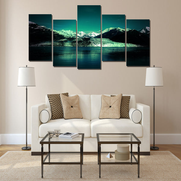 HD Printed Snow Mountain Lake picture Painting wall art room decor print poster picture canvas Free shipping/ny-1266