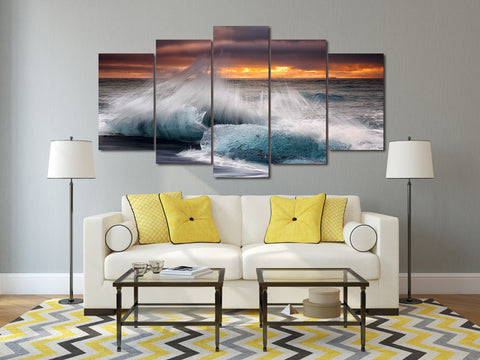 HD Printed Beach waves Painting on canvas room decoration print poster picture canvas Free shipping/ny-1459