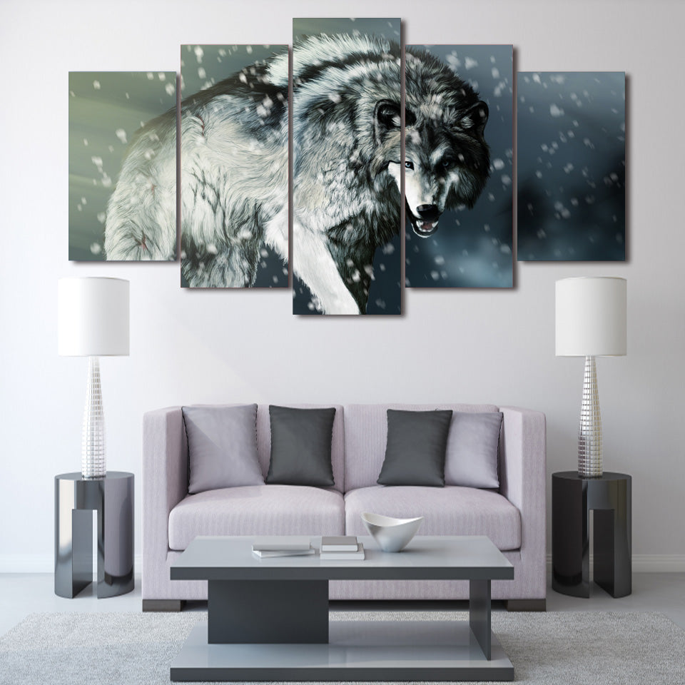 HD Printed angry wolf animal Painting on canvas room decoration print poster picture canvas Free shipping/ny-2822