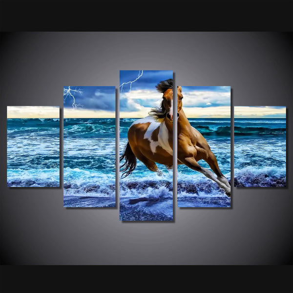HD Printed beach horse Painting on canvas room decoration print poster picture canvas Free shipping/ny-2755