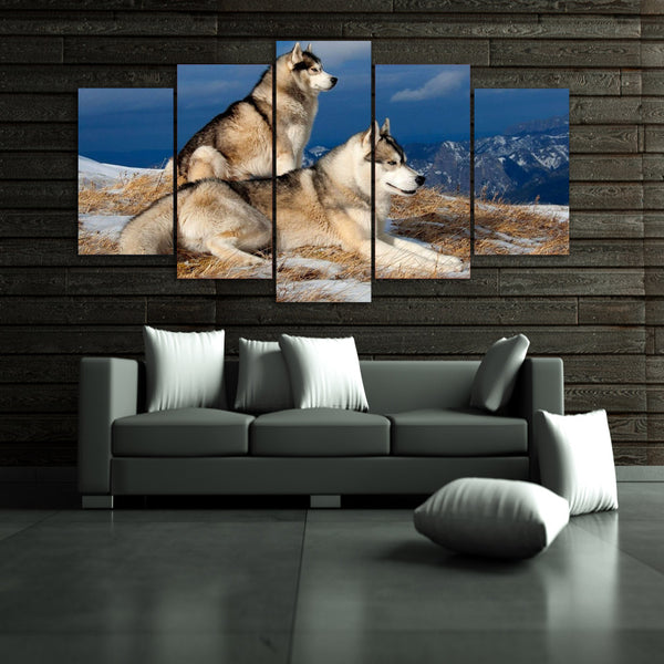 HD Printed Snowy dogs Painting Canvas Print room decor print poster picture canvas Free shipping/ny-2981
