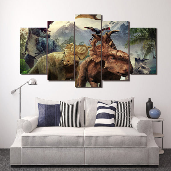 HD Printed walking with dinosaurs Group Painting Canvas Print room decor print poster picture canvas Free shipping/ny-1381