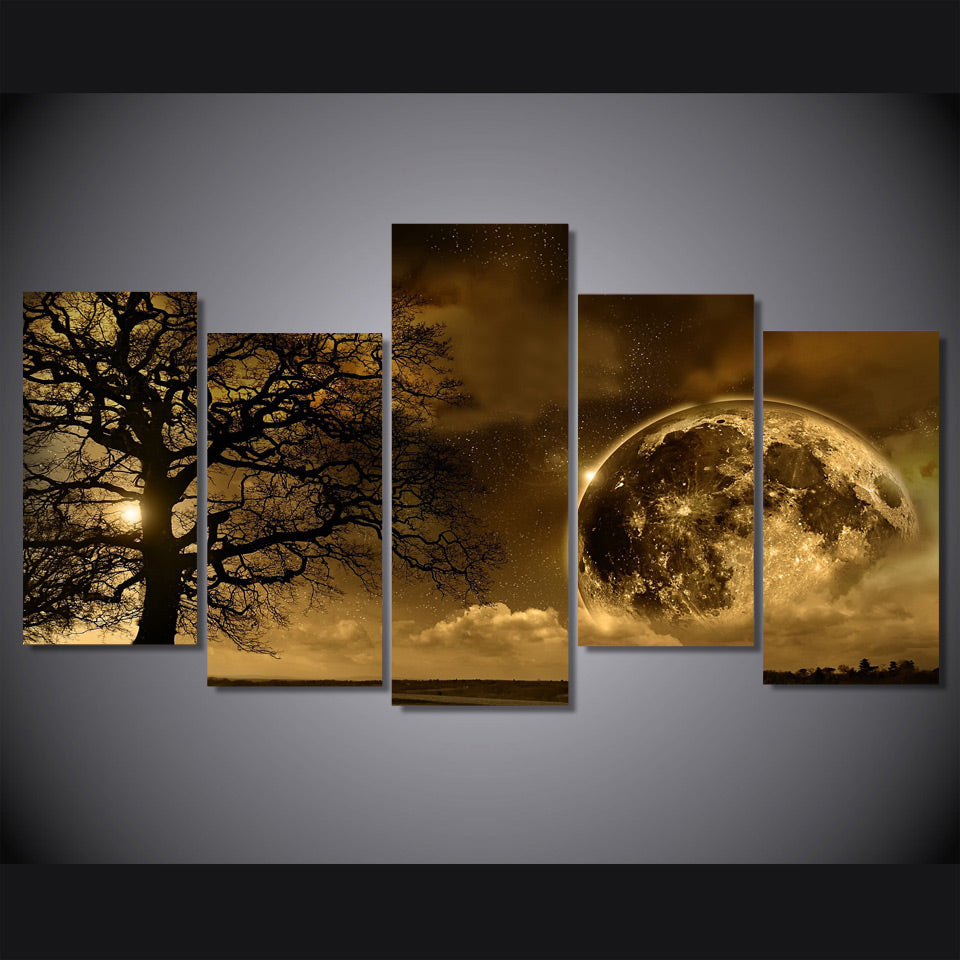 HD Printed Celestial body 5 piece Painting wall art room decor print poster picture canvas Free shipping/ny-1224