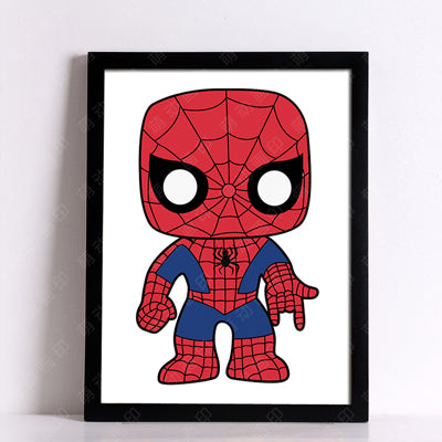 Batman Spider-Man Posters And Prints Wall Painting Canvas Art Print ...