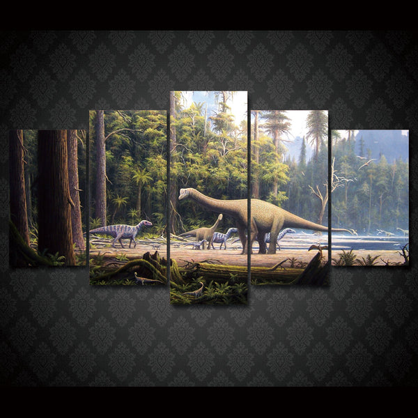 HD Printed Prehistoric dinosaur seascape Group Painting room decor print poster picture canvas Free shipping/ny-010