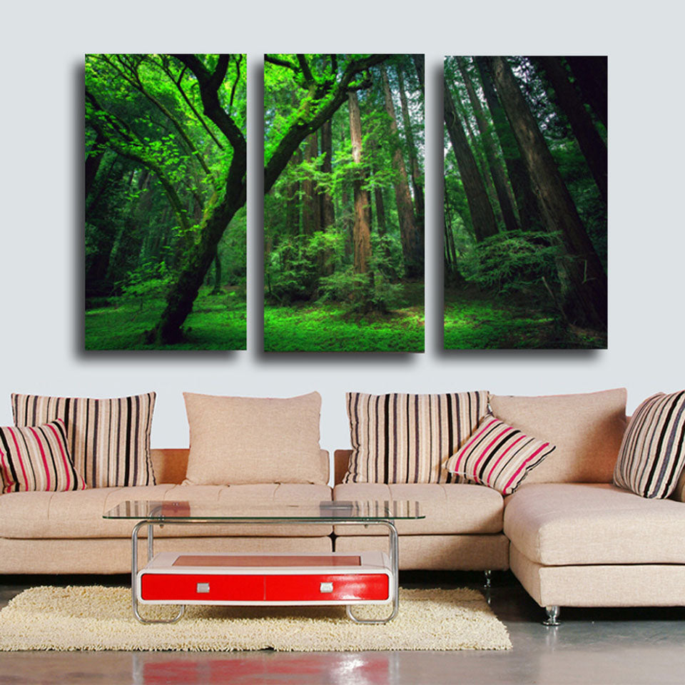 HD Printed Forest green tree Painting on canvas room decoration print poster picture canvas Free shipping/CU-017