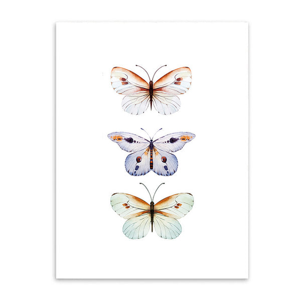 Watercolor Butterfly Canvas Art Print Painting Poster,  Wall Pictures for Home Decoration, Giclee Print Wall Decor S16016