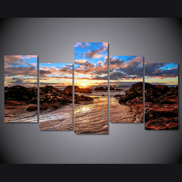 HD Printed clouds sky dawn rocks Painting on canvas room decoration print poster picture canvas Free shipping/ny-6392