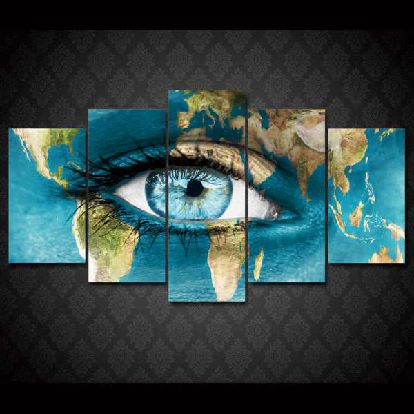 HD Printed Map of the face Painting on canvas room decoration print poster picture canvas Free shipping/ny-1650