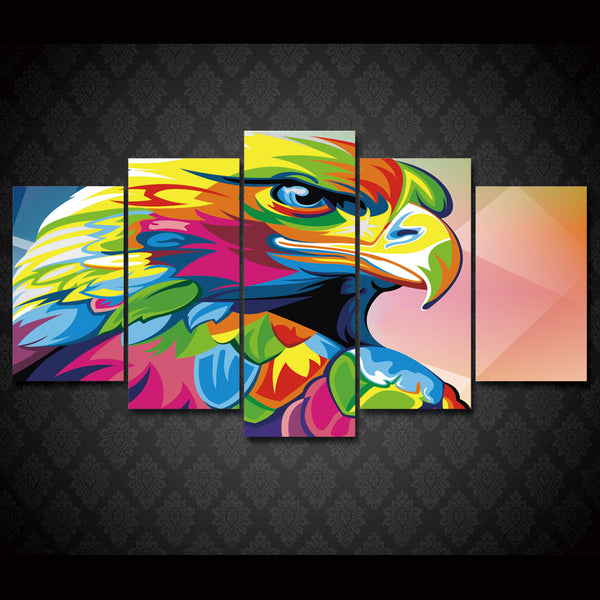 HD Printed Colorful Eagle Painting Canvas Print room decor print poster picture canvas Free shipping/ny-2696