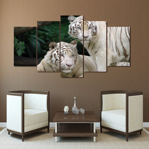 HD Printed White Tiger Landscape Group Painting room decor print poster picture canvas Free shipping/ny-031