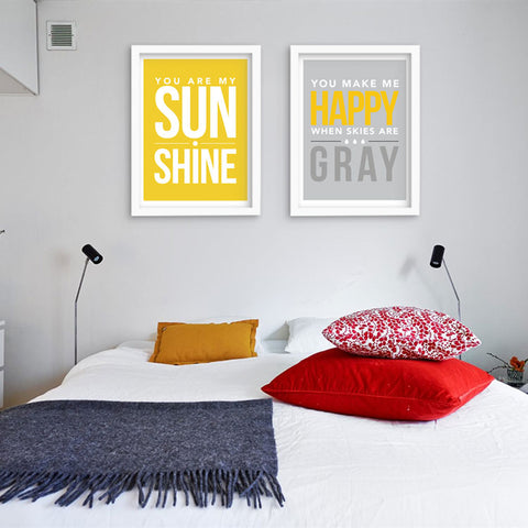 Modern Posters And Prints My Sunshine Wall Art Canvas Painting Wall Pictures For Living Room Nordic Decoration No Poster Frame