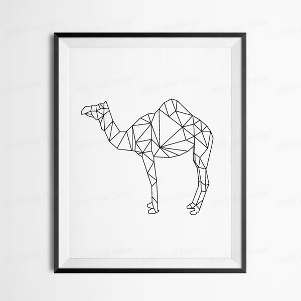 Geometric Camel Canvas Art Print Poster, Wall Pictures for Home Decoration, Wall decor FA221-10