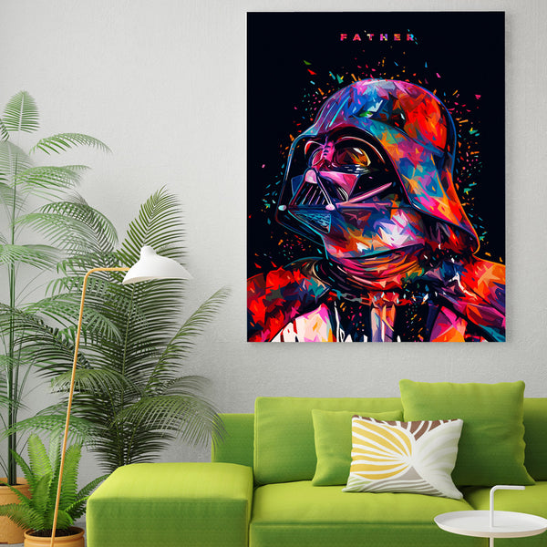 HD 1 piece canvas art printed star wars Black Knight Painting Canvas Print room decor posters and prints Free shipping/ny-6363