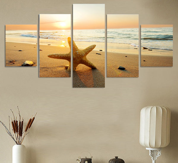 HD Printed sea ocean sunset beach sun Painting Canvas Print room decor print poster picture canvas Free shipping/ny-4325