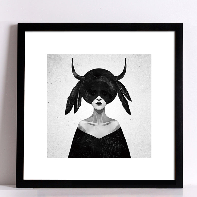 Posters And Prints Black Girl Wall Art Canvas Painting Art Print Wall Pictures For Living Room Nordic Decoration No Poster Frame