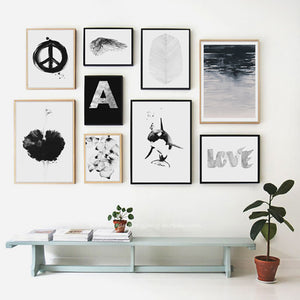 Wall Pictures For Living Room Grey World Posters And Prints Cuadros Wall Art Canvas Painting Nordic Decoration No Poster Frame