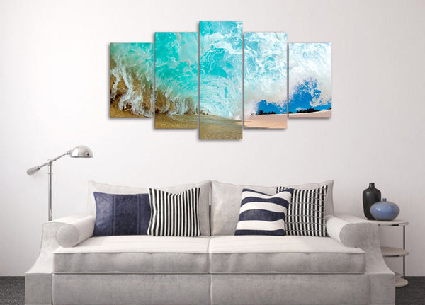 HD Printed Beach waves Group Painting on canvas room decoration print poster picture canvas framed Free shipping/ny-1120