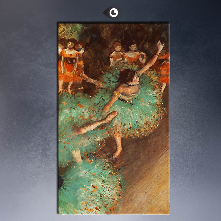 ART POSTER  EDGAR DEGAS green dancer CANVAS print  WALL OIL PAINTING