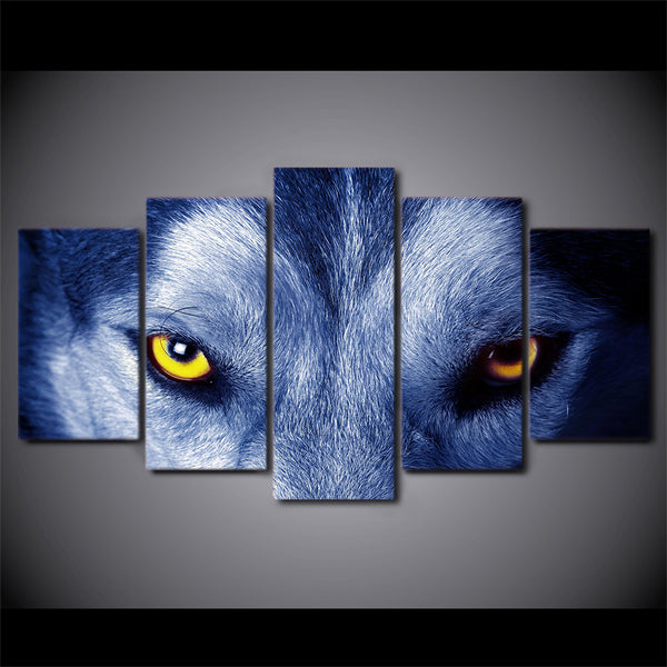 HD Printed Wolf Eyes Group Painting Canvas Print room decor print poster picture canvas Free shipping/H056