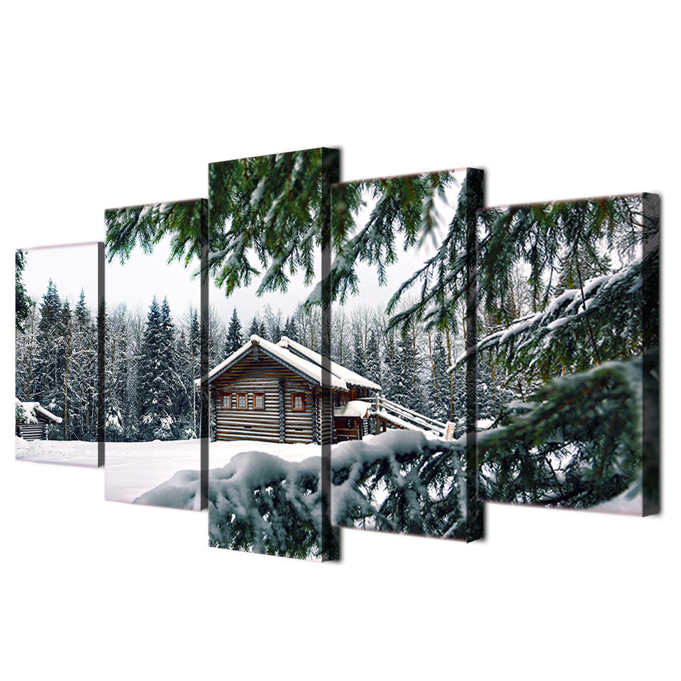 HD Printed Snow tree landscape Group Painting Canvas Print room decor print poster picture canvas Free shipping/ny-239