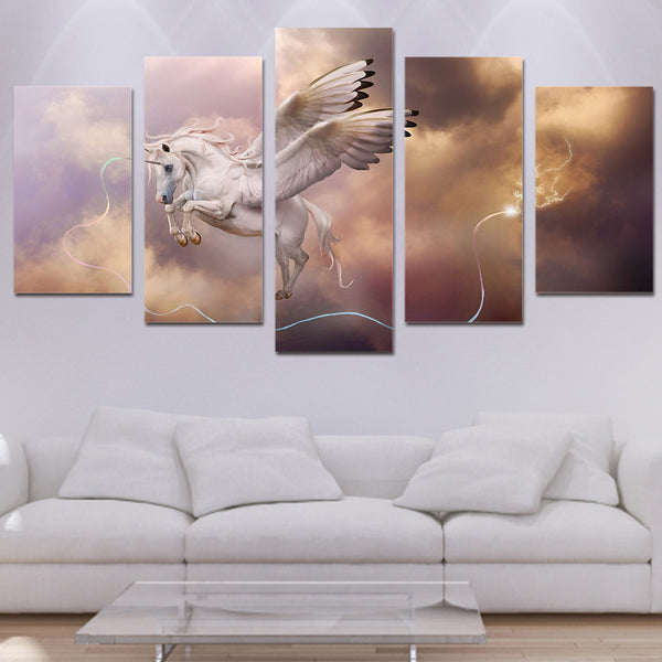 HD Printed fantasy art unicorn Pegasus Painting Canvas Print room decor print poster picture canvas Free shipping/ny-3035