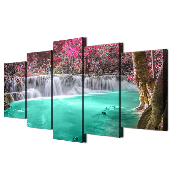 HD Printed waterfall forest landscape Painting Canvas Print room decor print poster picture canvas Free shipping/ny-4347