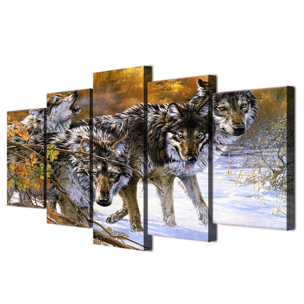HD Printed Wolf on snowy mountain Painting on canvas room decoration print poster picture canvas Free shipping/ny-2045
