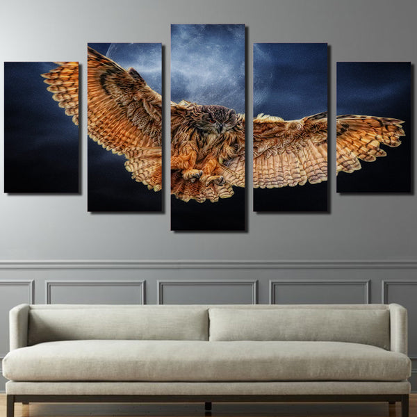 HD Printed Night owl Painting on canvas room decoration print poster picture canvas framed Free shipping/ny-1285
