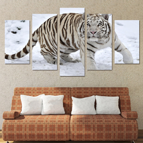 HD Printed White Tiger Landscape Group Painting room decor print poster picture canvas Free shipping/ny-032