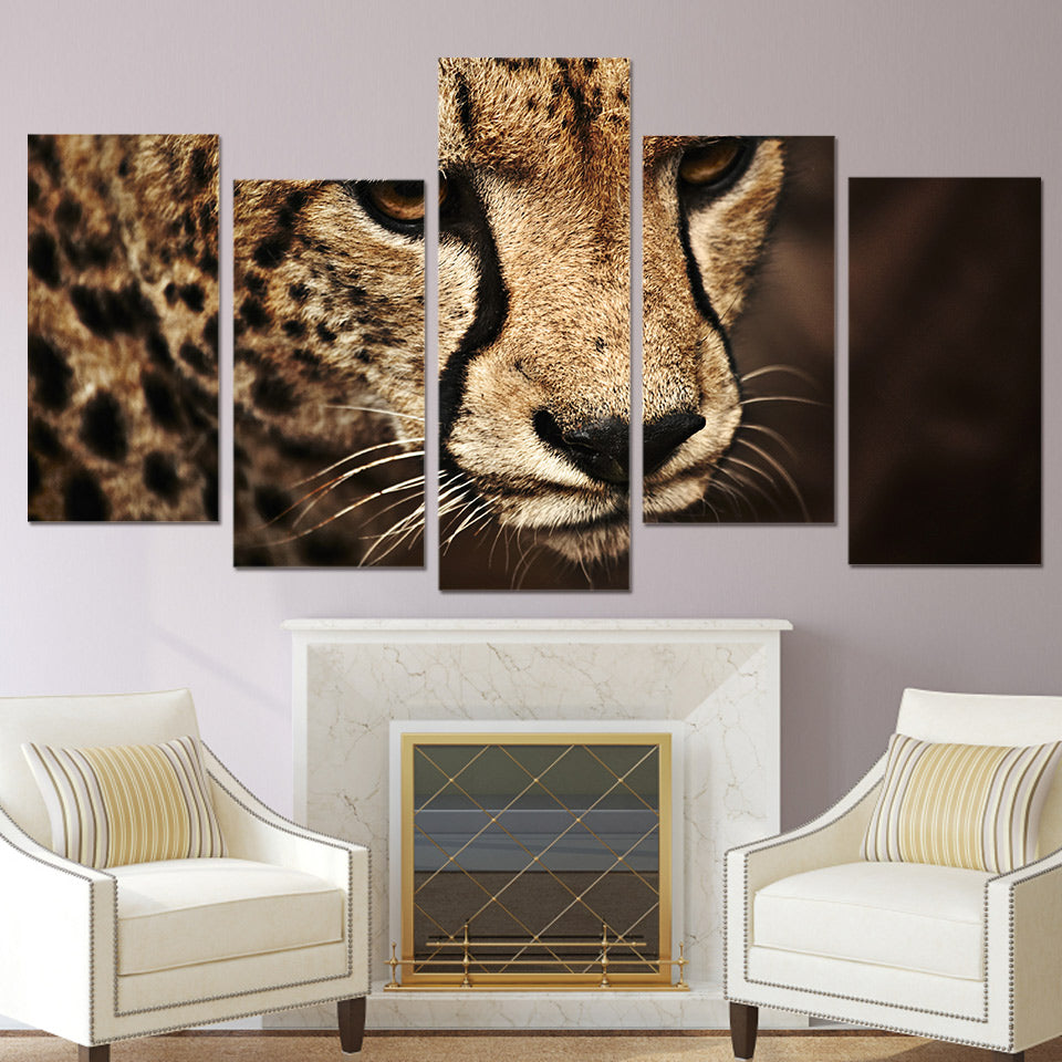 HD Printed Animal cheetah picture Painting wall art room decor print poster picture canvas Free shipping/ny-730