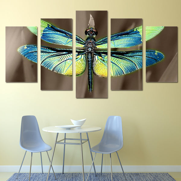 HD Printed Colored dragonfly wings Painting Canvas Print room decor print poster picture canvas Free shipping/ky-486