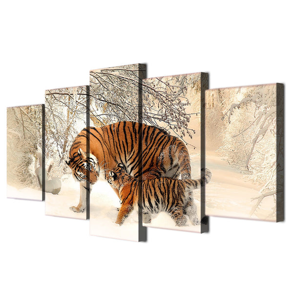 HD Printed Snow Mountain Tiger Painting on canvas room decoration print poster picture canvas Free shipping/ny-4016