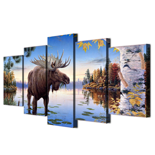 HD Printed animal Elk Painting Canvas Print room decor print poster picture canvas Free shipping/ny-3091