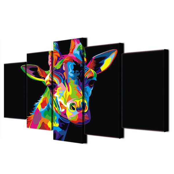 HD Printed Colorful Giraffe Painting Canvas Print room decor print poster picture canvas Free shipping/ny-2692