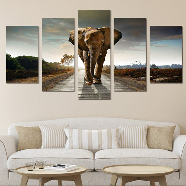 HD Printed Africa Elephants Landscape Group Painting room decor print poster picture canvas Free shipping/ny-016