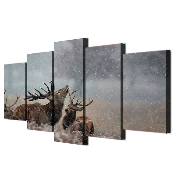 HD Printed Jungle snow deer Painting Canvas Print room decor print poster picture canvas Free shipping/ny-3051
