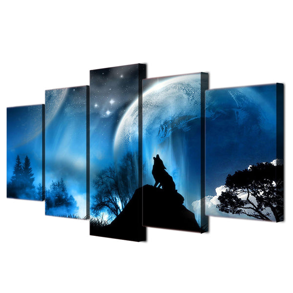 HD Printed Night howl Planet Painting Canvas Print room decor print poster picture canvas Free shipping/ny-4173