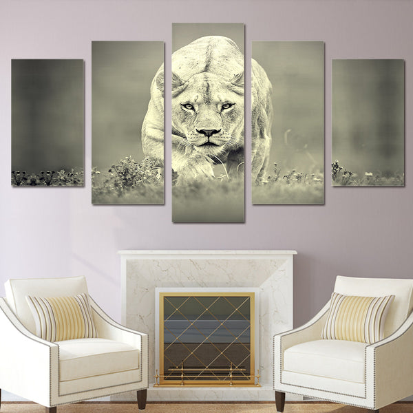 HD Printed African Lion Painting on canvas room decoration print poster picture canvas Free shipping/ny-2062