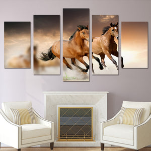 HD Printed  Animal horse Group Painting Canvas Print room decor print poster picture canvas Free shipping/ny-238