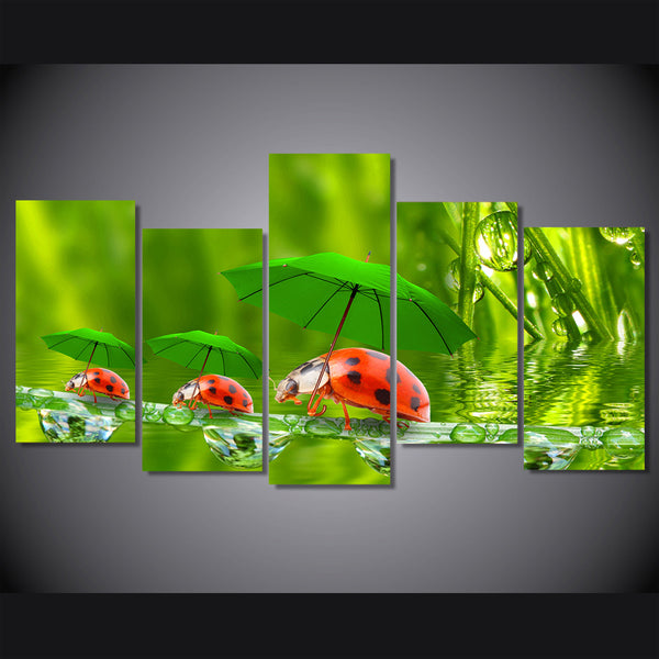 HD Printed Funny Ladybugs Painting Canvas Print room decor print poster picture canvas Free shipping/NY-5722