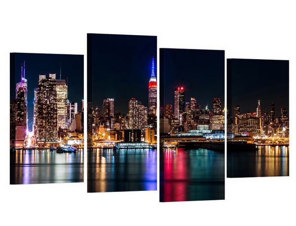 HD Printed canvas art 4 piece brooklyn manhattan new york painting wall decorations living room Free shipping/XA010