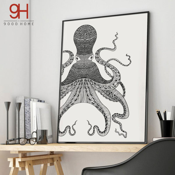 Octopus Canvas Art Print Poster, Wall Pictures for Home Decoration, Wall Decor YE153