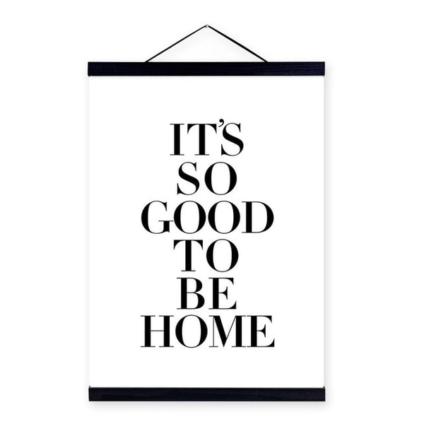 Modern Black White Motivational Home Quote Wooden Framed Canvas Painting Home Decor Nordic Wall Art Print Pictures Poster Hanger