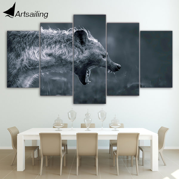 HD Printed Hyena on Hunting Painting Canvas Print room decor print poster picture canvas Free shipping/ny-4381