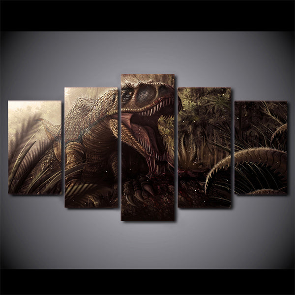 HD Printed Animation Dinosaur Group Painting Canvas Print room decor print poster picture canvas Free shipping/ny-482
