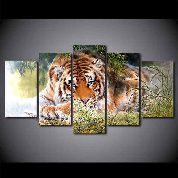 HD Printed Tiger Painting on canvas room decoration print poster picture canvas framed Free shipping/ny-1196
