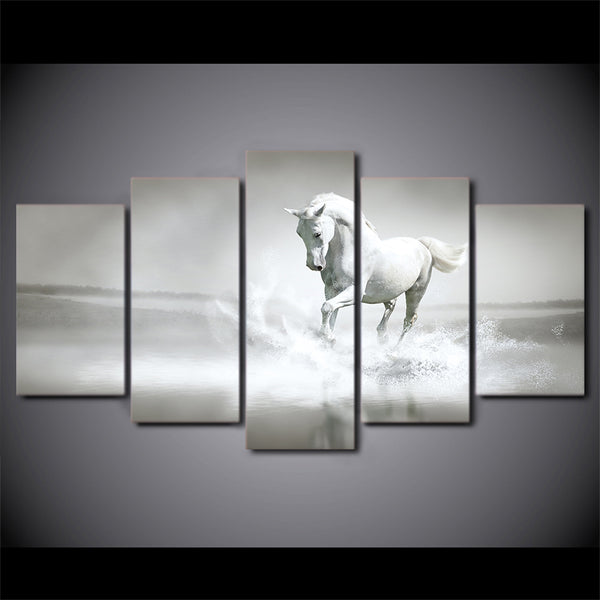 HD Printed Whitehorse Painting Canvas Print room decor print poster picture canvas Free shipping/ny-1986